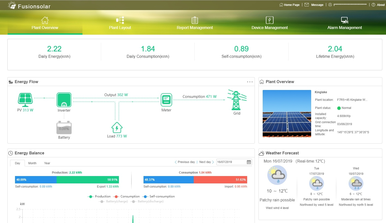 Huawei+FusionSolar+system+monitoring+portal